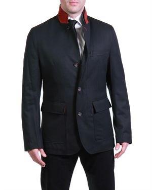 Gio Matto Solid Color High Neck Coat