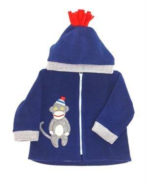 Tuff Kookooshka Monkey Applique Zip-Up Girl's Jacket Made In USA