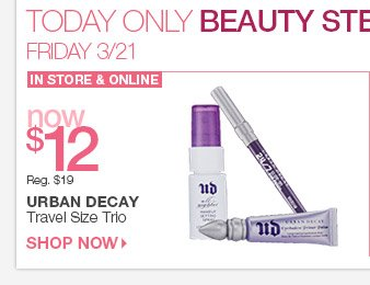 Friday Beauty Steal: Urban Decay Travel Size Trio Now $12