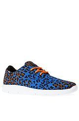 The Prelow Sneaker in Blue & Orange Leopard Camo