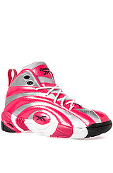 The Shaqnosis OG Sneaker in Pure Silver and Candy Pink