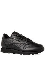 The Classic Leather Running Sneaker in Black