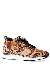 The 35 Lite Sneaker in Tan Camo & White