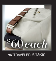 $60 USD each - Traveler Khakis