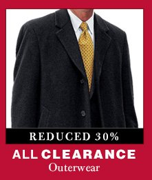Clearance Outerwear - Reduced 30%