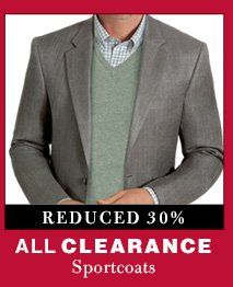 Clearance Sportcoats - Reduced 30%