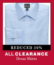 Clearance Dress Shirts - Reduced 30%