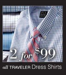 2 for $99 USD - Traveler Dress Shirts