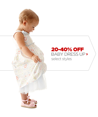 20–40% OFF BABY DRESS UP›  select styles