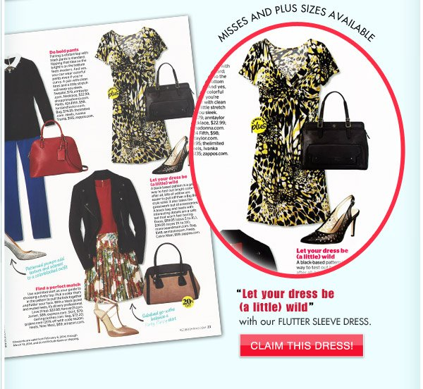 We're in This Month's Redbook Magazine | Claim This Dress