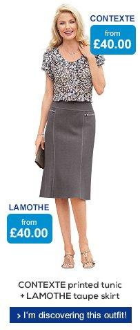 CONTEXTE tunix + LAMOTHE skirt