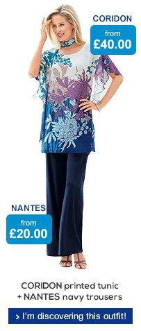 CORIDON tunic + NANTES trousers