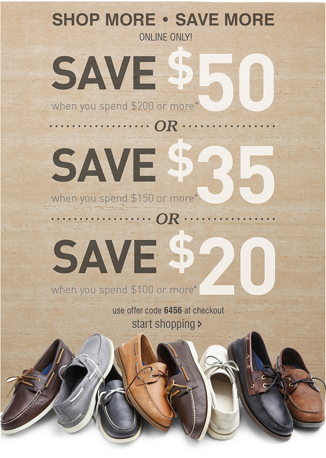 Tiered Offer: $20 off $100, $35 off $150, $50 off $200
