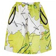 CHRISTOPHER KANE - Anatomical print silk skirt