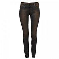 J BRAND - Mid-rise lamé skinny jeans