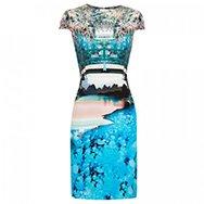 MARY KATRANTZOU - Caspian printed silk dress