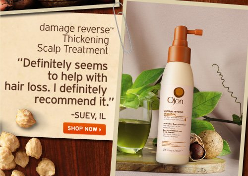 damage reverse Thickening Scalp Treatment Definitely seems to help with hair loss I definitely recommend it SUEV IL SHOP NOW