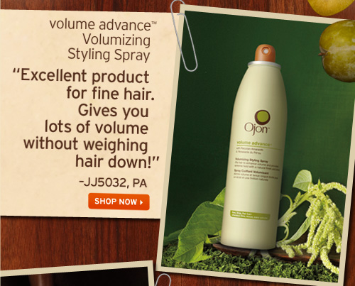 volume advance Volumizing Styling Spray Excellent product for fine hair Gives you lots of volume without weighing hair down JJ5032 PA SHOP NOW