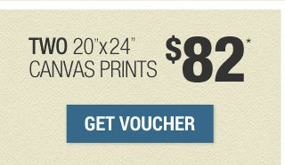 $82 for 2 20x24 canvas prints