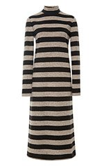 Cozy Stripe Turtleneck Dress