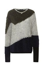 Mohair V Neck Pullover Sweater