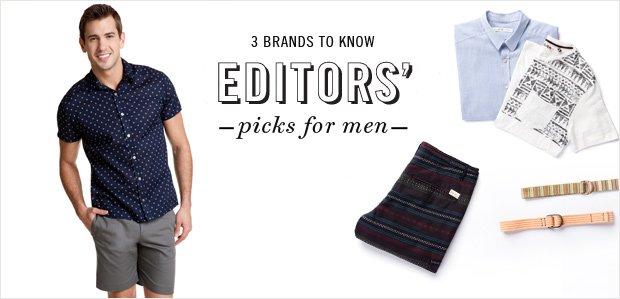 Editors' Picks for Men