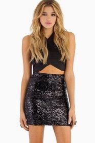 Be Seen Sequin Pencil Skirt $39