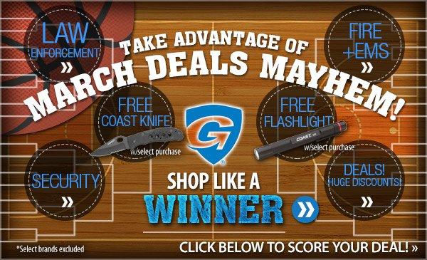 Take Advantage of March Deals Mayhem!