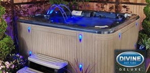 Divine Hot Tubs DL-1040 Deluxe 2014 115-Jet, 7-Person Spa