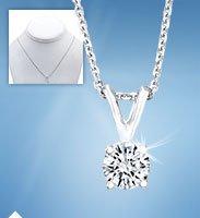 Round Brilliant Diamond Solitaire Necklace
