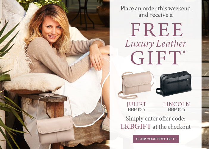 Place an order this weekend and receive a free Luxury Leather Gift*