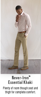 Neber-iron™ Essential Khaki Plenty of room though seat and thigh for complete comfort.