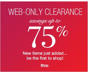 Web-only clearance savings up to 75%