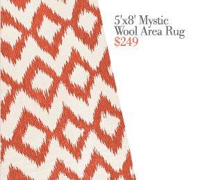 Mystic wool area rug | $249