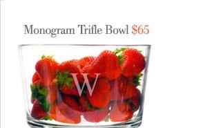 monogram trifle bowl | $65
