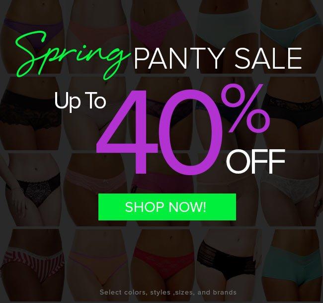 Spring Panty Sale