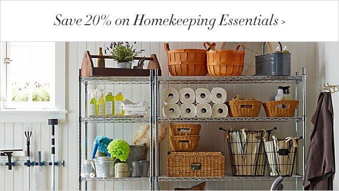 Save 20% on Homekeeping Essentials