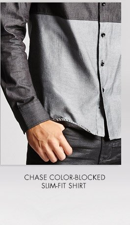 CHASE COLOR-BLOCKED SLIM-FIT SHIRT