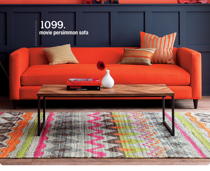1099. movie persimmon sofa