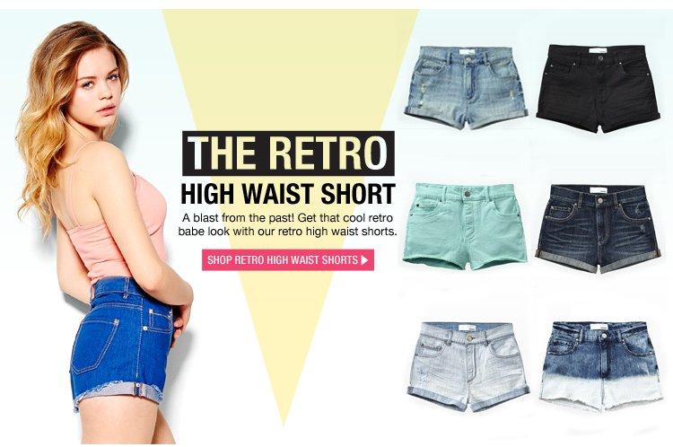 Shop Retro High Waist Shorts>