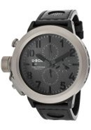 Men's Flightdeck Auto/Mech Chrono Charcoal Textured Dial Black Genuine Leather