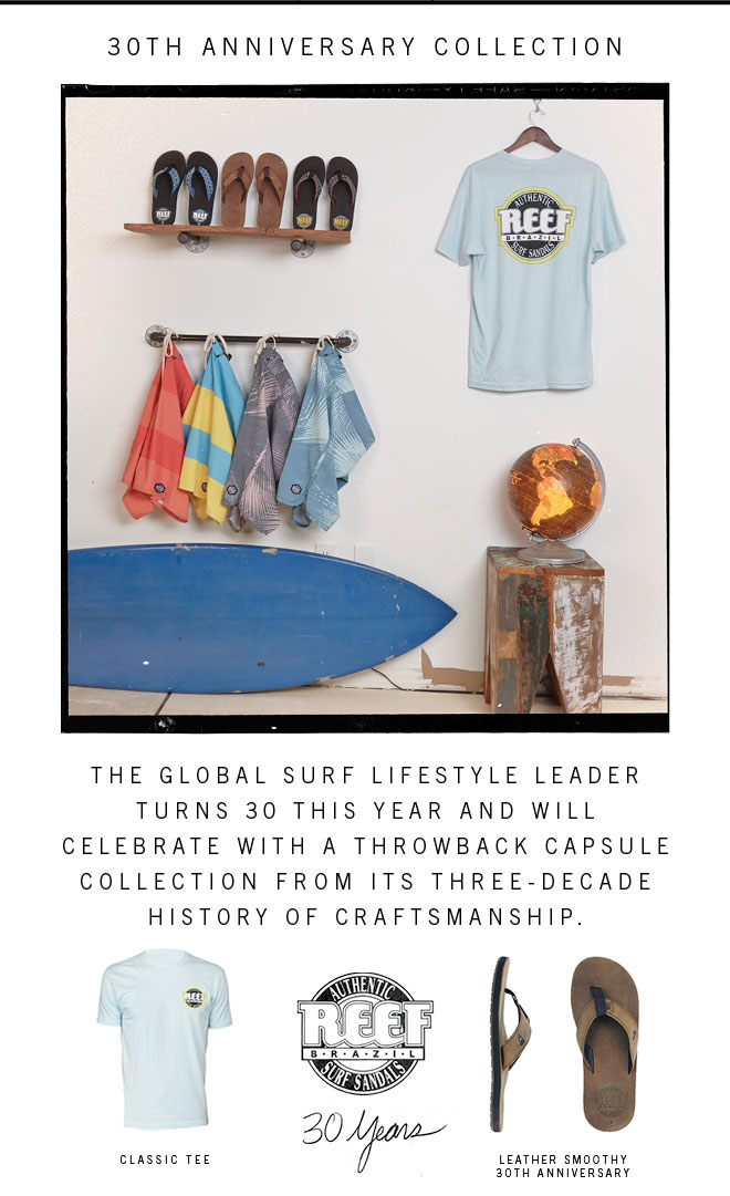 ?Reef Turns 30 | New Throwback Capsule Collection