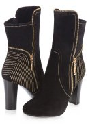 Gold Trim Suede Boot