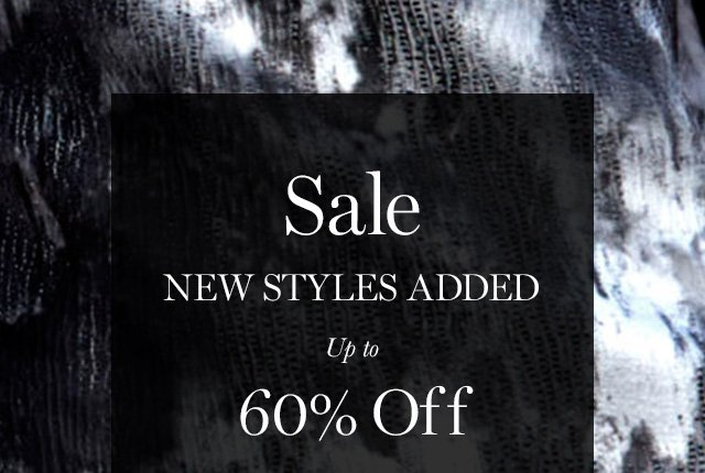 Sale  NEW STYLES ADDED  Up to 60% Off