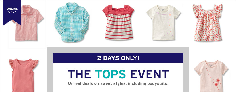 ONLINE ONLY | 2 DAYS ONLY! | THE TOPS EVENT | Unreal deals on sweet styles, including bodysuits!