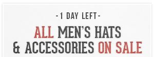 All Mens Hats and Accessories on Sale