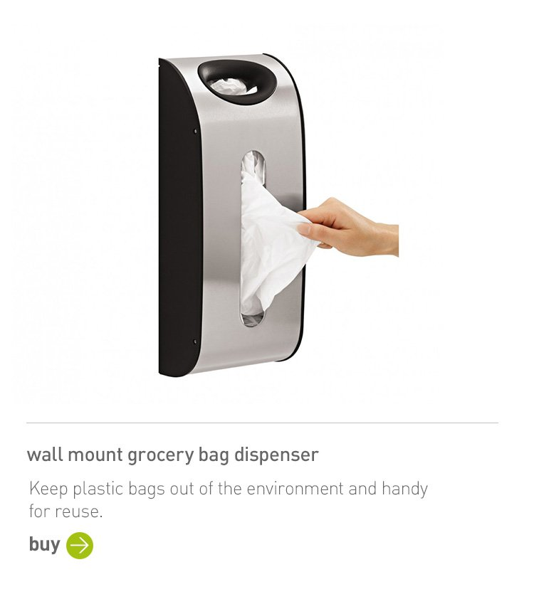 wall mount grocery bag dispenser