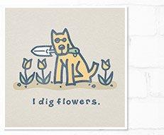 Women's I Dig Flowers Rocket Tee