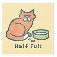 Women's Half Full Cat Tee
