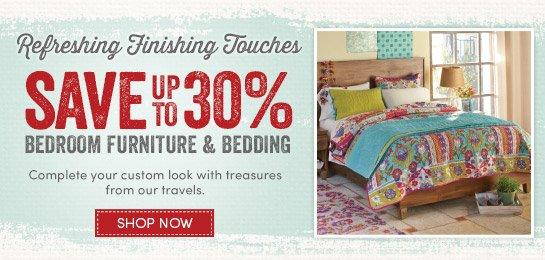 Save up to 30% Bedroom Furniture & Bedding
